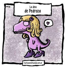 Diana Pedroza   Por favor Matias :D Una dinosaurio de color Lila con Cabello largo & tacones :D Gracias!!!