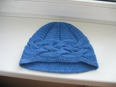 knitted hat pattern-free.  Would make a neat chemo hat