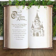 Wedding Backdrop Fairytale Castle for Ceremony Decor or Photo Booth, Book Pages Personalized Hanging Canvas Sign Wedding (Item - This personalized backdrop features a fairytale vintage book design and is a gorgeous addition to your wedding ceremony . Wedding Name, Wedding Signs, Wedding Gold, Wedding Ideas, Gala Dinner, Castle Backdrop, Fairytale Castle, Fairytale Book, Fairytale Weddings