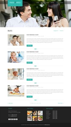 Food & Wine - Responsive Wordpress Theme - Restaurants & Cafes Entertainment #wordpress #theme #website #template #responsive #design #webdesign #flat #flatdesign #food #wine