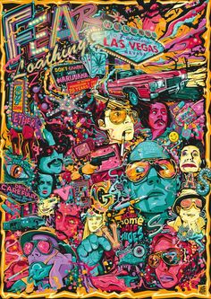 Fear and Loathing in Las Vegas Tribute Poster Artwork on Behance