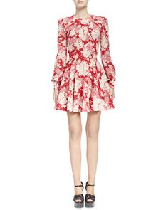 Draped+Kimono+Floral+Dress+by+Saint+Laurent+at+Bergdorf+Goodman.