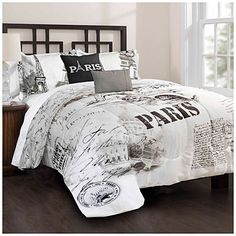 Black And White Queen Size Comforter Sets Bedroom Distinctive Bedding Set With Paris