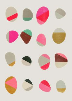 Painted Pebbles1 - Art Print by Garima Dhawan/Society6