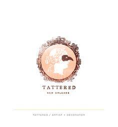 B I R D I E // B I R D I E - Tattered Logo | Texture, distress, color, frame.