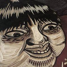 Mire Adentro #printmaking #linocut #choyland #estudiomitl by killchoy