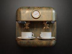 Coffee - Coffee Icon - Ideas of Coffee Icon - Coffee Design Ios App Design, App Icon Design, Game Design, Ui Design, Design Ideas, Graphic Design, Interior Design, Arduino, Coffee Icon