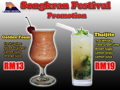 Songkran festival Beverages