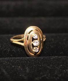 Vintage 14K Solid Gold and Diamond Everyday by vintagekitchenhome