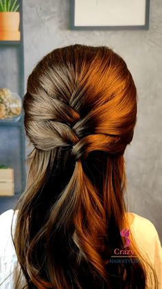 Hairdo For Long Hair, Bun Hairstyles For Long Hair, Braided Hairstyles, Braided Ponytail, Front Hair Styles, Medium Hair Styles, Hair Style Vedio, Hair Tutorials For Medium Hair, Aesthetic Hair