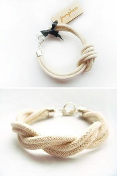 twisted natural rope bracelet