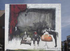 Murale sur l'École Nationale de Théâtre
