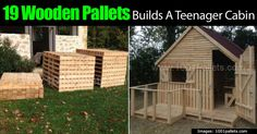 This cabin is the perfect size for a teenagers hangout. This crafty individual created an adorable wooden cabin out of 19 wooden pallets. They used new wooden pallets and their own design and size but mention that you can use old pallets if you so wish. The pallets appear to have been dismantled...