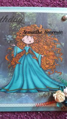 "Image from Tiddly Inks ""Magda"" for my Brave mad daughter. Handmade by Samantha Stoneman"