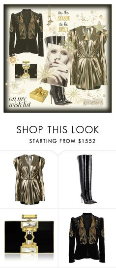 """""""On my wish list"""" by zabead ❤ liked on Polyvore featuring Yves Saint Laurent, Gianvito Rossi, Judith Leiber, Calvin Klein and Anna Sui"""