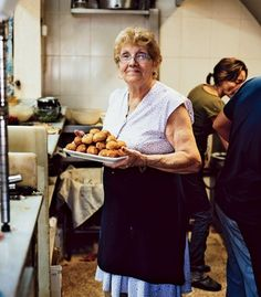 Barcelona Restaurant: Palmira, the matriarch of   La Cova Fumada. (Galilea Nin)