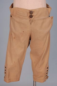 Man's wool breeches, 1800-1810