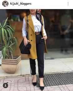 vest with dressy pants-Girly chic hijab collection – Just Trendy Girls Modest Fashion Hijab, Modern Hijab Fashion, Hijab Fashion Inspiration, Hijab A Enfiler, Hijab Chic, Hijab Outfit, Iranian Women Fashion, Islamic Fashion, Muslim Fashion