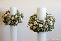 . Bridal Decorations, Ceremony Decorations, Table Decorations, Wedding Ceremony, Reception, Church Candles, Church Flowers, Santorini Wedding