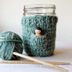 Fairy cup cozy free knitting pattern! Great fun for your little one