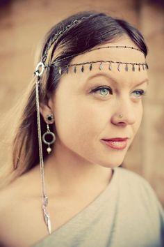 Pelo tribal, plata cadena