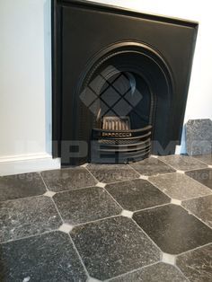 Flanders Octagon Corner marmer marble white black zwart wit - IMDOT - #IMPERMO #flanders #interior #marble #corner #black #white #tile #marmer