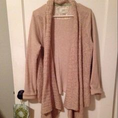 Oatmeal Fleece Cable Sweater Cozy and Super Soft High-Low Open Sweater. This is a great sweater to throw on when you need to run errands or just want to lounge on sofa. Good Condition. Anthropologie Sweaters Cardigans
