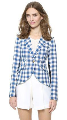 01e2da76ae7e7 SMYTHE Gingham One Button Blazer | SHOPBOP Cute Blazers, Blazers For Women,  Smythe Blazer