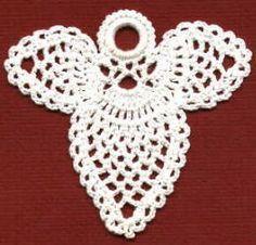 FREE EASY CROCHET PATTERN: Pineapple Angel Christmas tree ornament