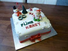 #Kerst #taart van #marsepein