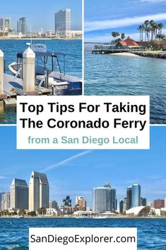 The Coronado - San Diego Ferry is a great way to get to Coronado island, enjoy spectacular views of San Diego & get a cheap mini-bay cruise. Coronado Island, Travel Usa, Canada Travel, Travel Tips, Coronado San Diego, San Diego Activities, Vacation Trips, Beach Vacations