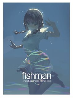 """fishman ""make it beautiful"""" Art And Illustration, Character Illustration, Fantasy Kunst, Fantasy Art, Cover Art, Manga Art, Anime Art, Pixiv Fantasia, Anime Kunst"