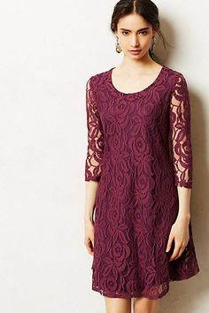 Amare Dress #anthropologie  $39.95 in mauve - it's gorgeous and would look great with boots.