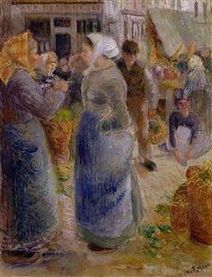 The Market - Camille Pissarro
