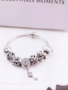 50% OFF!!! $199 Pandora Charm Bracelet. Hot Sale!!! SKU: CB01125 - PANDORA Bracelet Ideas