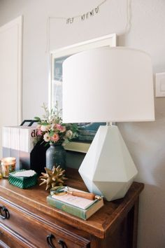 gem lamp in white