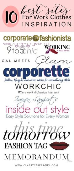 10 Best Sites For Work Clothes Inspiration - Classy Career Girl Workwear Fashion, Fashion Tag, Work Fashion, Secret To Success, Dress For Success, Inside Out Style, Gal Meets Glam, Professional Outfits, Womens Clothing Stores