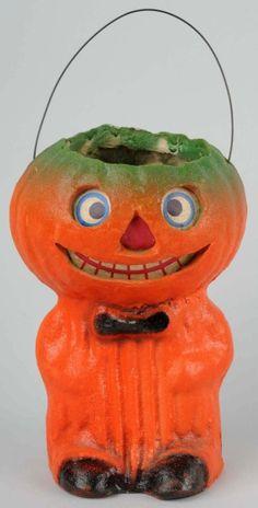 Lot # : 104 - American Pulp Veggie Man Jack-O-Lantern.
