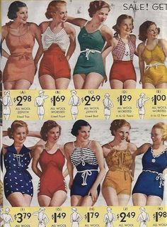 Vintage Swimwear Inspiration: Tips for Sewing Swimsuits Vintage. - - Vintage Swimwear Inspiration: Tips for Sewing Swimsuits Vintage Swimwear Sewing Inspiration – The 2013 SwimAlong Source by 1930s Fashion, Retro Fashion, Vintage Fashion, Gothic Fashion, Vintage Bathing Suits, Vintage Swimsuits, Vintage Mode, Moda Vintage, Retro Vintage