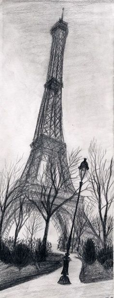 eiffel tower drawing and sketches (8) Because I wouldn't be Paris if I didn't post this