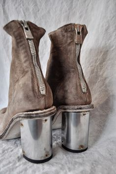 Guidi silver heels