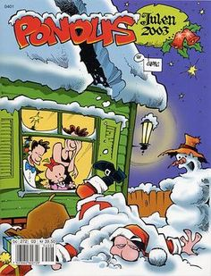 """Pondus Julehefte 2003"" av Frode Øverli Comic Books, Comics, Reading, Cover, Art, Art Background, Kunst, Reading Books, Cartoons"