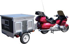 How cool is this!!  Motorcycle & Small Vehicle Dog Trailer Bring your dogs on the road trip!