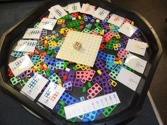 Making teen numbers with Numicon in the tuff tray. Numicon Activities, Counting Activities, Numeracy, Tuff Spot, Early Years Maths, Early Math, Teen Numbers, Math Numbers, Teaching Numbers