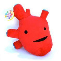 Cœur d'artichaut, cœur de pierre ou cœur brisé, on a tous une bonne raison de s'offrir un coeur en peluche...  Stuffed Heart!!! Cool way to teach kids anatomy!