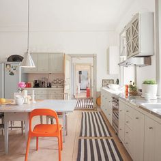 Orange chair in Kitchen | Scandinavian style decorating ideas | Interiors | redonline.co.uk
