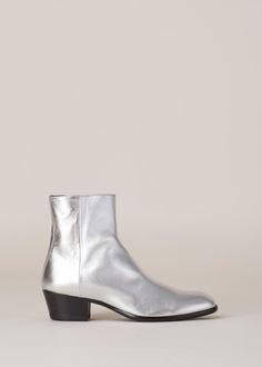 Totokaelo - Maison Martin Margiela Silver Flat Ankle Boot