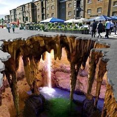 3D chalk art - amazing The Amazing Pictures » The most amazing pictures from all over the internet, every day.