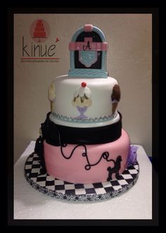 50S Rock And Roll Decorations Rock n roll cake Cakes by Melissa