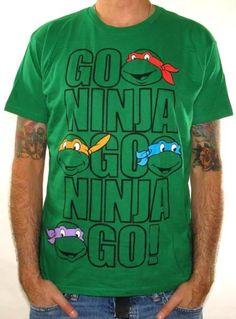 Click for Full Size Image of Teenage Mutant Ninja Turtles, T-Shirt, Go Ninja Go Ninja Go #TMNTGiveaway